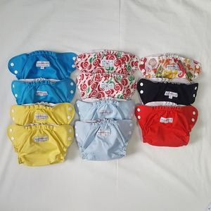 APPLECHEEKS   11 Cloth Diaper Covers   Sz. 1